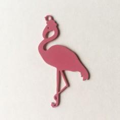 Sottile charm smaltato rosa...