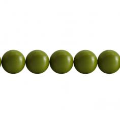 Perla in resina verde oliva...