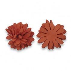 Fiore in 3D in finta pelle...