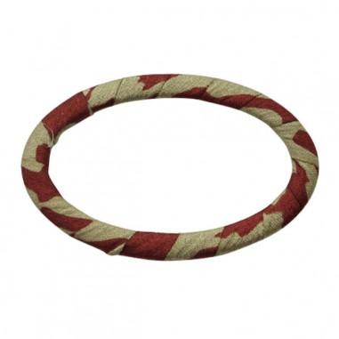 Coppia di anelle ovali ricoperte di...