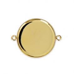 Connettore tondo dorato 25 mm