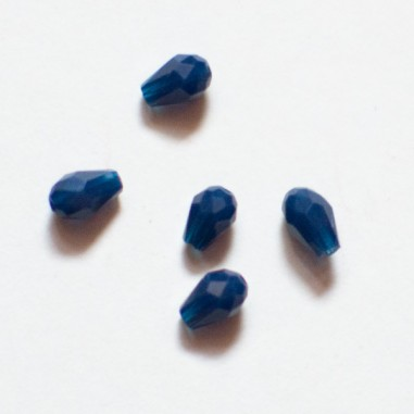 Gocce sfaccettata 5x3 mm color blu...