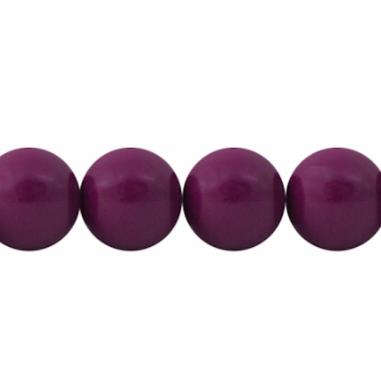 Perla  tonda in resina prugna 20 mm, x 1