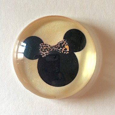 Cabochon in vetro, tondo 20mm, Minnie...