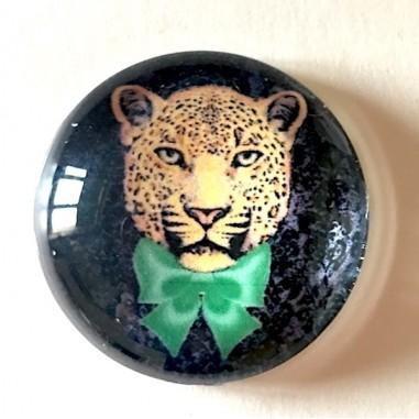 Cabochon in vetro, tondo 20mm, Tigre...