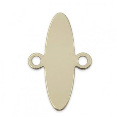 Connettore ovale dorato con anellini...