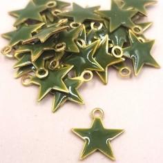 Charm stellina dorata verde...