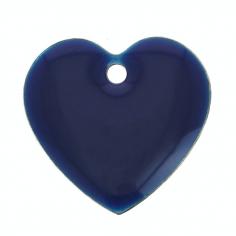 Charm cuore blu notte con...