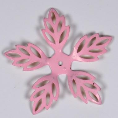 Fiori 5 Petali Rosa.Fiore Vintage D Annata Color Rosa Con 5 Petali Traforati 55 Mm