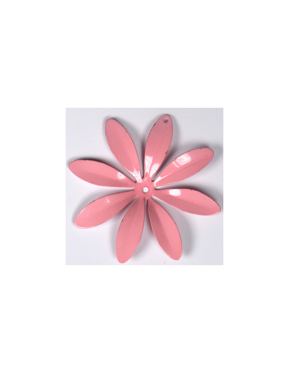 Fiori 8 Petali.Fiore Vintage D Annata Color Rosa Con 8 Petali Di Cui Uno Forato 66 Mm