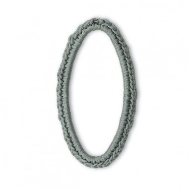 Pendente anello dorato piatto ovale...