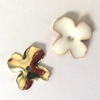 Charm fiorellino a 4 petali dorato...