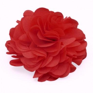 Cabochon fiore in stoffa rosso...