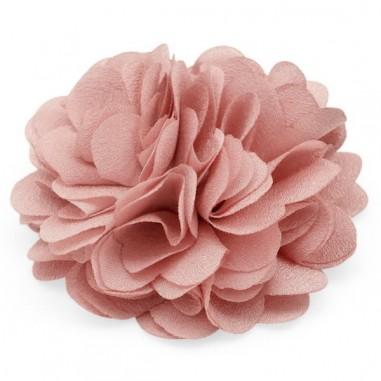 Cabochon fiore in stoffa rosa antico...