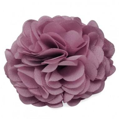 Cabochon fiore in stoffa lilla con...