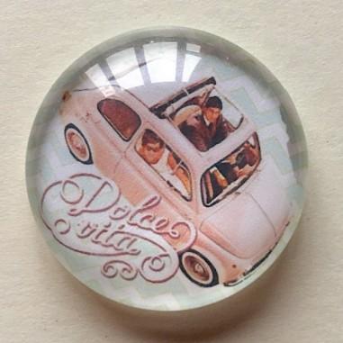 copy of Cabochon in vetro tondo, 25...