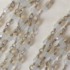 Catena rosario rodiato con...