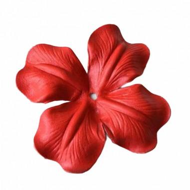 Fiore in pelle Papavero color rosso...