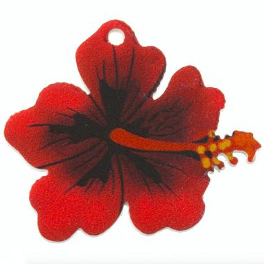 Charm in plexiglass fiore di ibiscus...