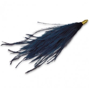 Lunga piuma di struzzo blu con...