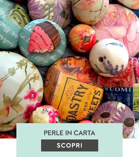 Perle rivestite in carta