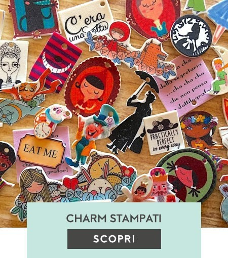 Charms stampati