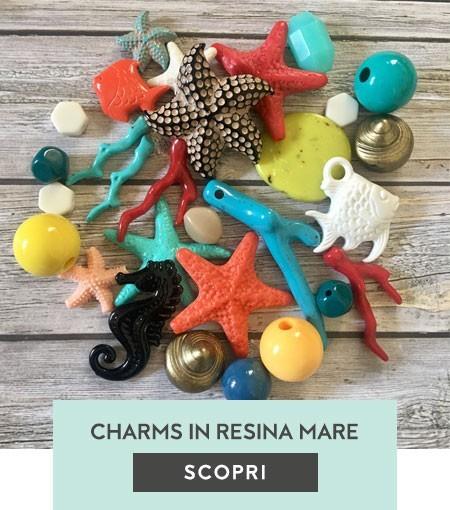 Perle in resina mare