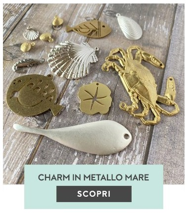 Charms in metallo mare