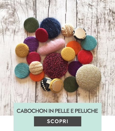 Cabochons in stoffa, con perline e in peluche