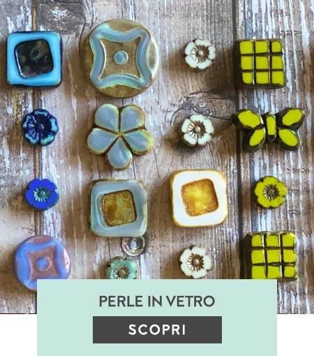 Perle in vetro, pietre e perle